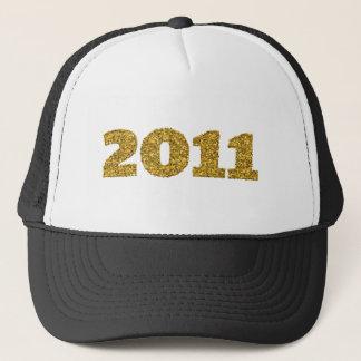 2011 guld- glitter keps