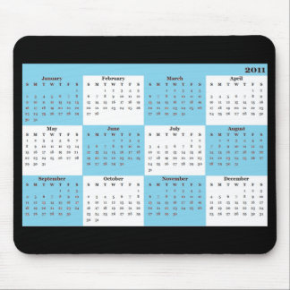 2011 kalender Mousepad