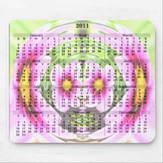 2011 kalender Mousepad - blommajordklot Mus Matta