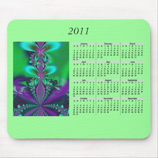 2011 kalender Mousepad - grönt Musmatta