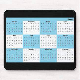 2011 kalenderblått Mousepad Mus Matta