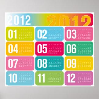 2012 årliga kalender poster