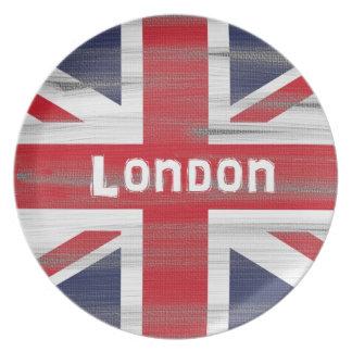 2012 fackliga jackflagga av Britannien pläterar Tallrik