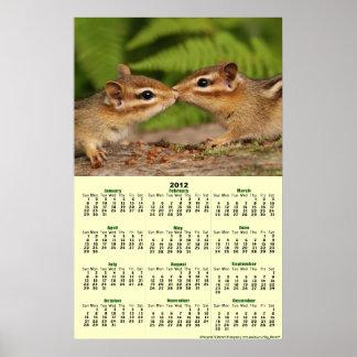 2012 kalender - kalender för babyjordekorreaffisch affisch