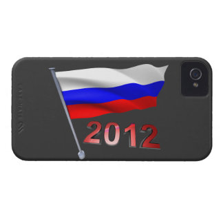2012 med rysk flagga iPhone 4 case