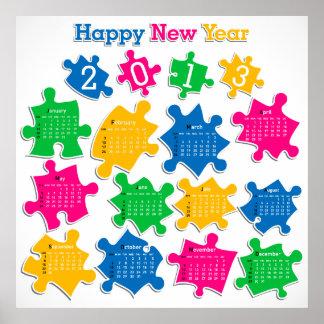 2013 affisch för kalender 4 poster