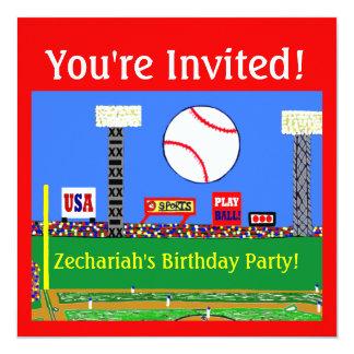 2013 ungebaseballfödelsedagsfest inbjudan