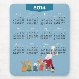2014 kalender - familj för gott nytt årkaninkanin mus mattor