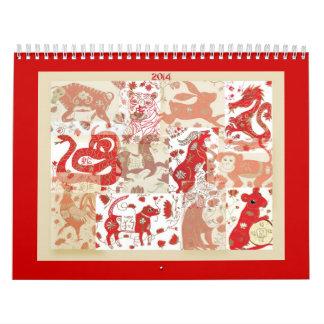 2014 kinesiska astrologikalender för nytt år kalender