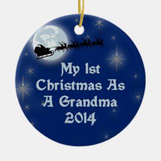 2014 min 1st jul som en mormor julgransprydnad keramik