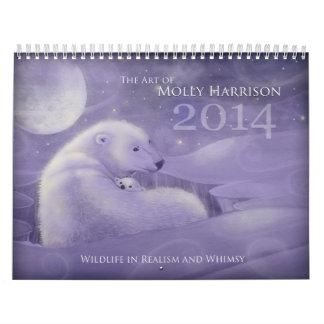 2014 nyckfulla djurliv kalender