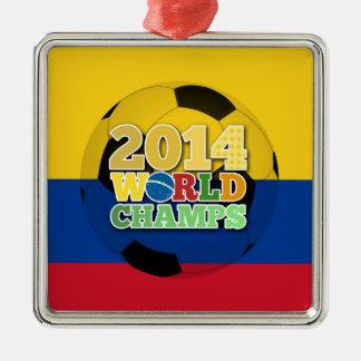 2014 världsmästareboll - Colombia Julgransprydnad Metall