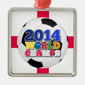 2014 världsmästareboll - England Julgransprydnad Metall