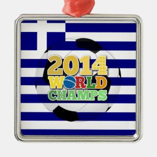 2014 världsmästareboll - Grekland Julgransprydnad Metall