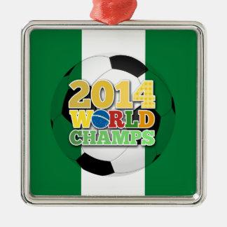 2014 världsmästareboll - Nigeria Julgransprydnad Metall