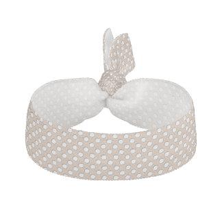 2015 färg rostad mandel med vitpolka dots hårband