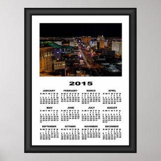 2015 kalender Las Vegas på den grafiska ramen för Poster