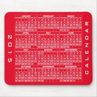 2015 kalender röda Mousepad Musmatta