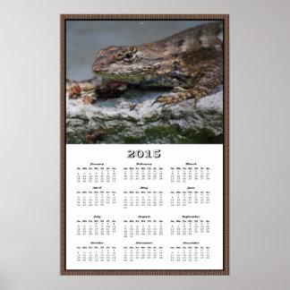2015 östliga kalender för staketödlaaffisch affischer