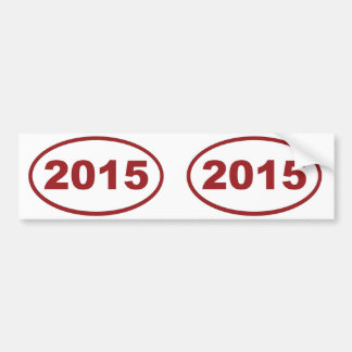 2015 röda rödbrunt bildekal