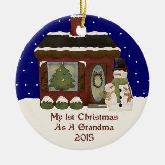 2015 vår 1st jul som en mormor julgransprydnad keramik