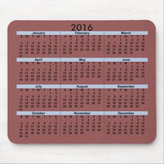 2016 kalender Mousepad Mus Matta