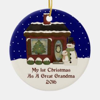 2016 min 1st jul som en underbar mormor julgransprydnad keramik