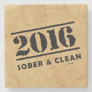 2016: Nyktra till och rengöringen Underlägg Sten
