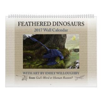 2017 befjädrad Dinosaurkalender Kalender