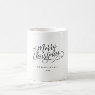 2017 god jul skrivar den personifierade kända kaffemugg