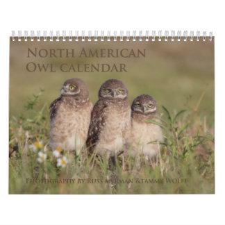 2017 norr - kalender för amerikanugglavägg