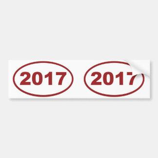 2017 röda rödbrunt bildekal