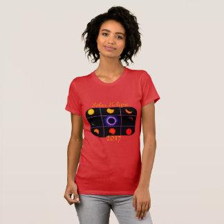 2017 sol- förmörkelse arrangerar gradvis tee shirt