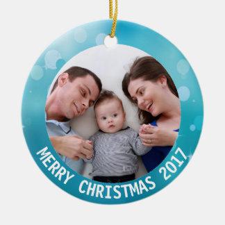 2017 tillfoga din prydnad för familjfotojul julgransprydnad keramik