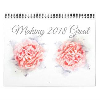 2018 blommor i blomkalender kalender