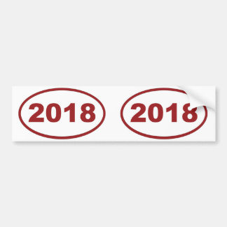 2018 röda rödbrunt bildekal