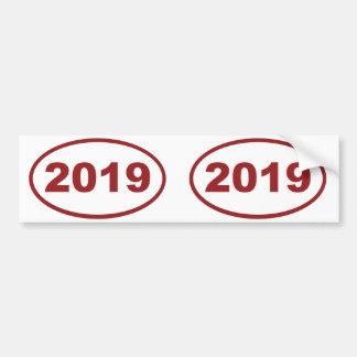 2019 röda rödbrunt bildekal