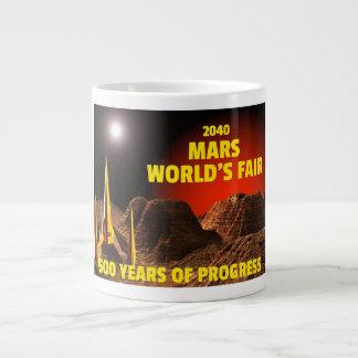 2040 Mars världs mässa Jumbo Mugg