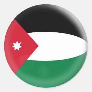 20 små klistermärkeJordanienflagga Runt Klistermärke