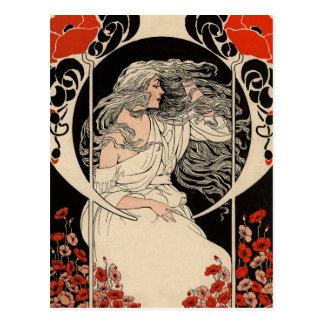 20-talart nouveau vykort