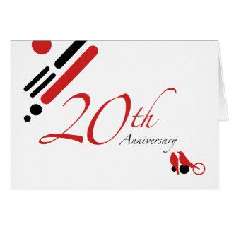 20th Årsdag (modfåglar) Hälsningskort