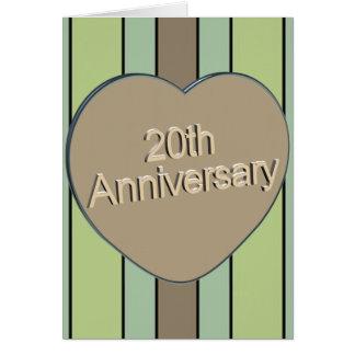 20th Bröllopsdag Hälsningskort