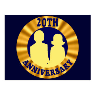 20th Bröllopsdag Vykort