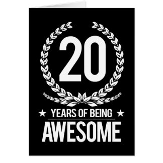 20th Födelsedag (20 år av att vara enorma) Hälsningskort