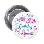 20th FödelsedagPrincess Knapp Med Nål