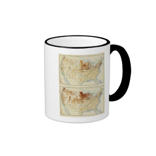 21 infödingar av skandinaviska nationer 1890 kaffe koppar