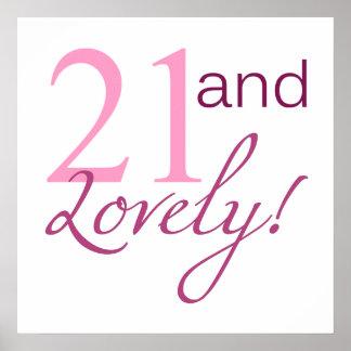 21 och älskvärda födelsedaggåvor poster