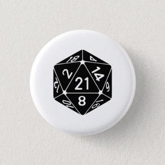 21 sid den 21st för fantasigameren för mini knapp rund 3.2 cm