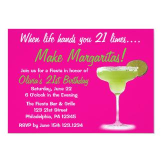 21st födelsedaginbjudan för margarita 12,7 x 17,8 cm inbjudningskort