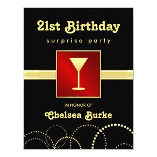 21st Födelsedagöverrrakningparty - något 10,8 X 14 Cm Inbjudningskort